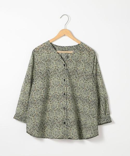 特價 七分袖罩衫 機能布料 LIGHT&COOL 植物印花套衫 日本品牌【coen】