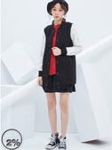 【2%】2% 蕾絲拼接袖長版外套-黑