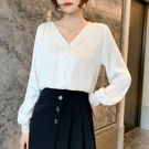 限時特價 設計感小眾襯衣新款春夏時尚氣質小衫顯瘦洋氣雪紡女士襯衫女