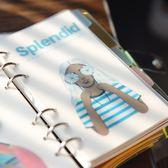 洛林原創北歐風彩色分類筆記本彩色人物手賬活頁分隔頁索引A5A6裝 挪威森林