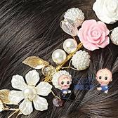 髮箍 女童頭飾女孩配飾頭花手工髮飾髮箍花環韓版花童生日演出粉色飾品 雙12提前購