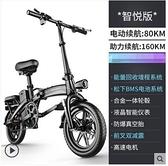 斯洛克新國標折疊電動自行車鋰電池代步代駕電瓶助力車小型電動車 酷男精品館