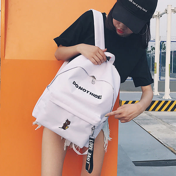 韓版雙肩後背包 女學院風書包《印象精品》b1455