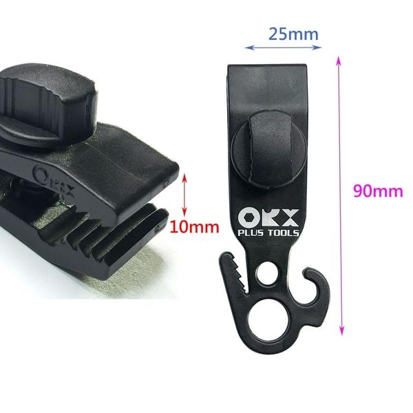 (4入裝) 台灣製造 orx BZ003-S 小神夾快速調節片調繩 強力帆布夾 天幕夾 營繩夾 帳篷夾