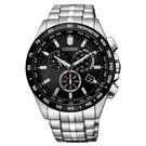 CITIZEN 星辰 光動能電波錶 三眼計時手錶 CB5874-90E_43mm