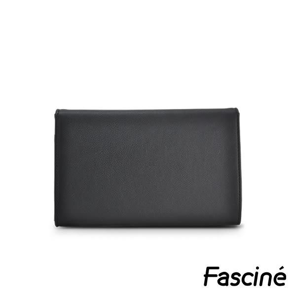側背包 - 多夾層金屬插釦信封包/手拿包/側背包 Fascine [W7032-01]