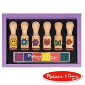 美國瑪莉莎 Melissa & Doug 木製長柄印章組-繽紛花漾(六入)