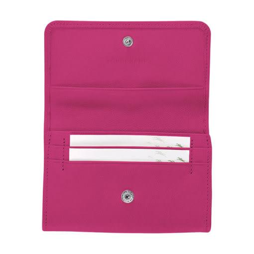 LONGCHAMOP小羊皮 零錢包/卡夾 (桃紅色) 現貨特價