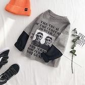 童裝男童假兩件長袖t恤秋裝2020新款 韓版兒童春秋上衣寶寶打底衫 滿天星