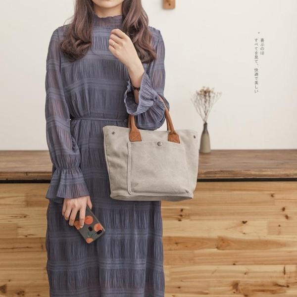 新款帆布包女日韓托特包女式時尚手提布包布藝包小布包女包