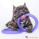 寵物訓練飛碟飛盤玩具狗拔河互動耐咬浮水紫環【小獅子】