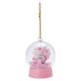 〔小禮堂〕美樂蒂 水晶球雪球造型吊飾《粉》雪球掛飾.擺飾.燦爛櫻花系列 4901610-19990
