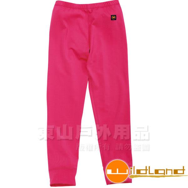 Wildland 荒野 W2681-16蜜桃紅 童 遠紅外線彈性保暖褲