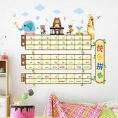 墻貼 早教貼紙自粘拼音字母表墻貼房間幼兒園寶寶早教貼畫