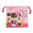 【日本進口正版】米奇 米妮 Mickey 束口袋 收納袋 抽繩束口袋 迪士尼 Disney - 047130