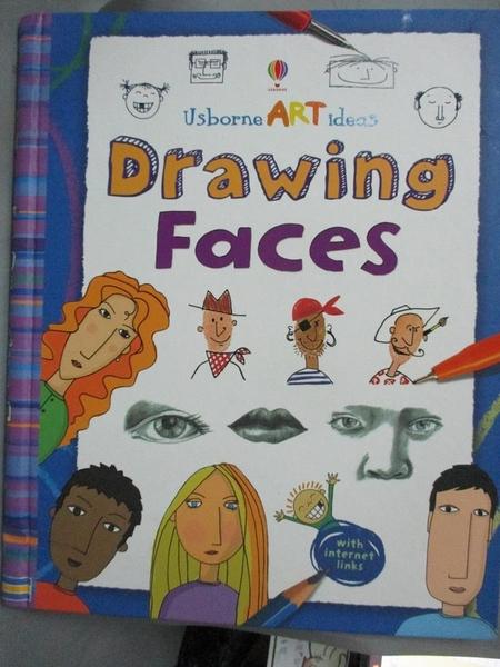【書寶二手書T1/兒童文學_YHA】Drawing Faces (Usborne Art Ideas)_Rosie Dickins, Rosie Dickins