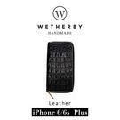 【G2 STORE】WETHERBY-PRIMECROCO-iPhone6/6sPlus-5.5吋手工製作鱷魚紋真皮保護套/皮包-沈穩黑