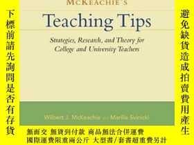 二手書博民逛書店Mckeachie s罕見Teaching TipsY256260 Wilbert J. Mckeachie