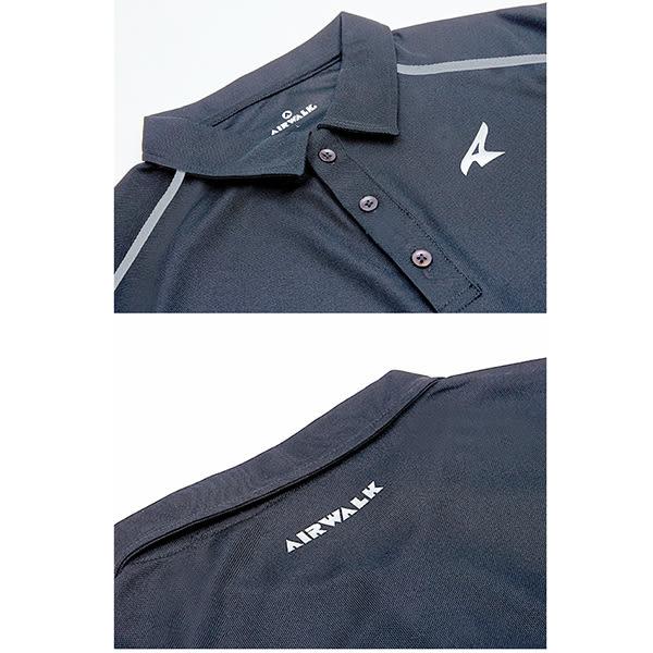 美國AIRWALK 簡約設計吸排POLO衫-中灰