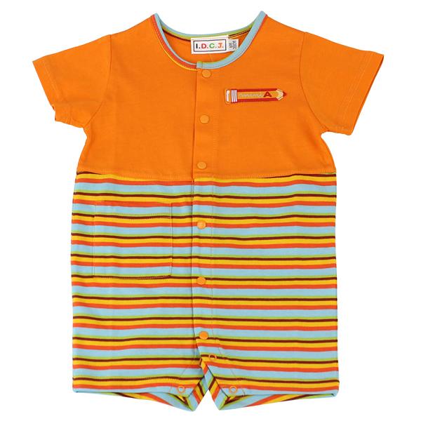 【愛的世界】純棉夏令營條紋拼色連身褲/6個月~2歲-台灣製- - ---春夏連身 涼夏推薦