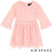 洋裝 CHIAO聯名微透膚傘襬蕾絲洋裝(童裝)3色 -AIR SPACE