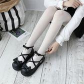 18日系厚底洛麗塔女鞋可愛圓頭娃娃鞋學院風小皮鞋平底軟妹少女鞋