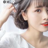 MG 耳環女-s銀耳線女韓版時尚簡約光珠耳線氣質短款耳鍊耳環飾品