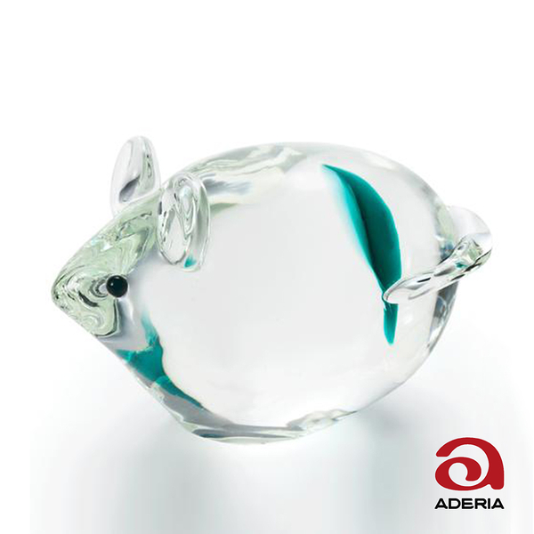 日本ADERIA 手作玻璃幸運生肖擺飾- 共6款(鼠/牛/虎/兔/龍/蛇)