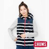 CHUMS Fleece Elmo 女 連帽背心 海軍條紋 CH141079N050