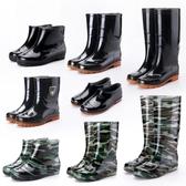 雨鞋 四季中高筒雨鞋男士耐磨工作水靴短筒套鞋低筒牛筋底防滑塑膠鞋夏