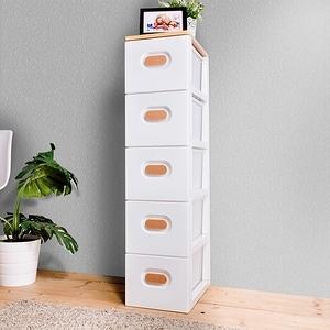 【HOUSE】木天板-TODAY衣物抽屜式五層收納櫃 隙縫櫃