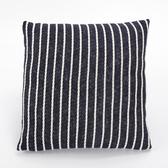 編織滾線抱枕45x45cm 藍