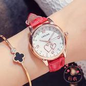 手錶可愛時尚夜光手錶皮帶錶防水女士手錶女高中學生潮流(萬聖節)