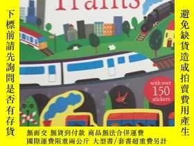二手書博民逛書店Trains罕見(First Sticker Book) (Fi