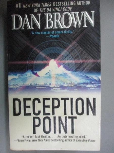 【書寶二手書T1/原文小說_NNF】Deception Point_Brown Dan