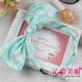 髮箍 可彎可調角度 蝴蝶結 日韓頭飾居家小物  - 彩糖心願(綠白愛心) -沁甜美姬
