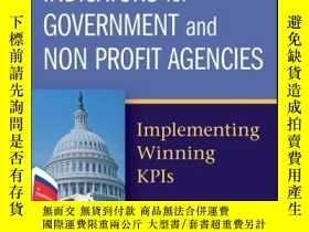 二手書博民逛書店Key罕見Performance Indicators for Government and Non Profit
