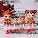創意家居客廳擺件擺設工藝品 婚慶禮品結婚禮物吊腳樹脂娃娃「時尚彩虹屋」