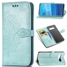 S10/S10e/S10 Plus保護殼壓花皮套 三星Note10翻蓋手機殼SamSung Note 10 Plus手機套 S8/S9/N8/N9保護套