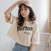 MIUSTAR 寬版BOSTON美式風格棉質短上衣(共2色)【NH0688SX】預購