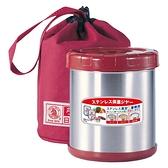 日本寶馬不鏽鋼真空保溫便當盒_0.85Lx1(附提袋) SHW-GL-850紅