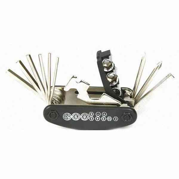15合1 自行車 維修 組合 工具組 螺絲起子 內六角扳手 套筒扳手 腳踏車 DIY 配件 『無名』 M07105