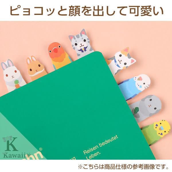 Hamee 日本製 可愛動物 標籤便條紙 便利貼 自黏貼 N次貼 辦公小物 海豚 企鵝 水獺 海豹 177-154235