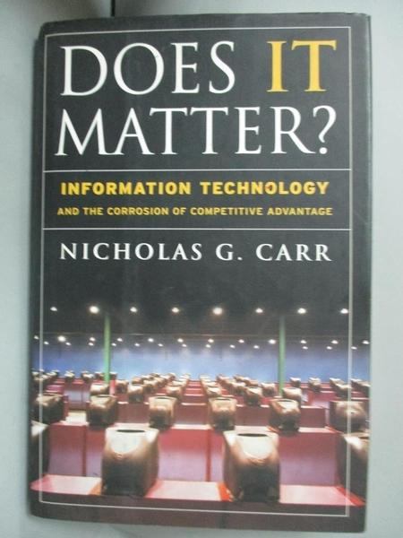 【書寶二手書T8/大學商學_FUQ】Does It Matter?_Carr, Nicholas G.