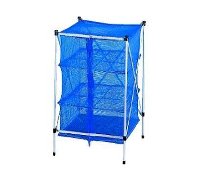 【速捷戶外露營】[大新竹露營]64355餐櫥網(附掛網架)餐具吊籃 碗籃架 鳥籠 食物吊籃網籃 垃圾袋架