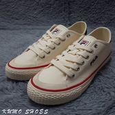 Kumo shoes FILA帆布鞋 米白 經典 休閒 瑕疵出清 FS1SIA1031XWWT