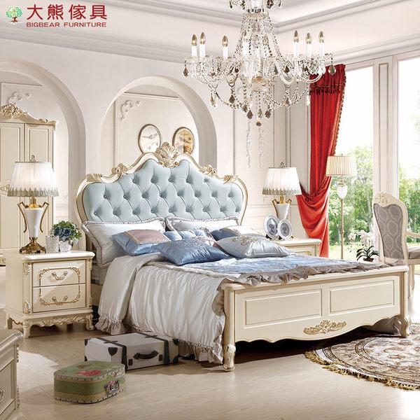 【大熊傢俱】932 韓戀 法式床 雙人床 五尺床 皮床 公主床 歐式床 床台 另售六尺床 衣櫃