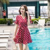 現貨清倉洋裝 9286#夏季時尚法式復古波點顯瘦洋裝 優家小鋪10-16