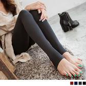 OB嚴選《BA0731-》高質感單品~舒適彈性輕刷磨毛踩腳褲.4色--適 S~XL