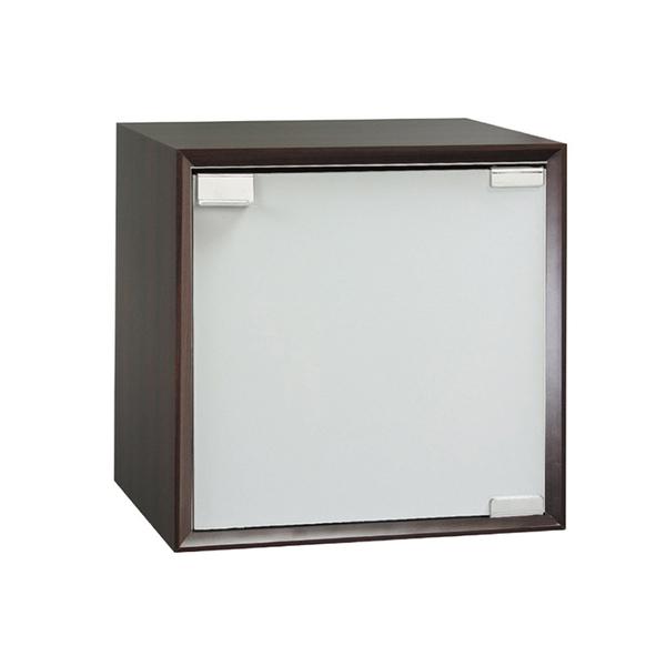 【采桔家居】馬歐 時尚1尺單門收納櫃(三色可選)